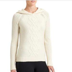 Athleta Cold Spell Hoodie Sweater Fine Marino Wool